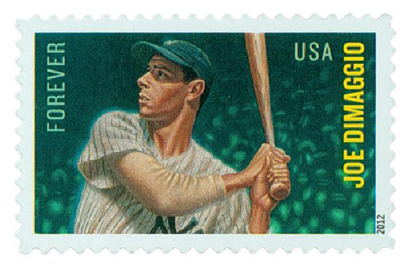 2012 First-Class Forever Stamp - Major League Baseball All-Stars: Joe DiMaggio