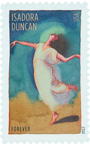 2012 First-Class Forever Stamp - Innovative Choreographers: Isadora Duncan