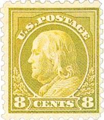 1916-17 8c Franklin, olive green