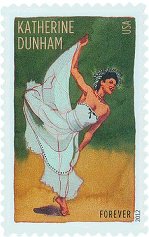 2012 First-Class Forever Stamp - Innovative Choreographers: Katherine Dunham