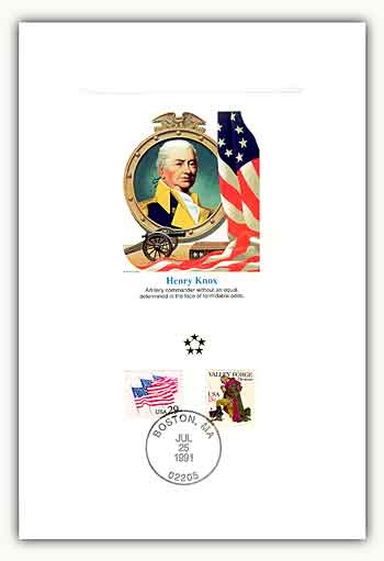Item #47008A – Henry Knox Proof Card marking his 241st birthday.