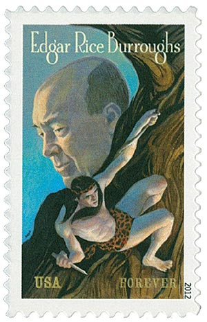 2012 First-Class Forever Stamp - Edgar Rice Burroughs