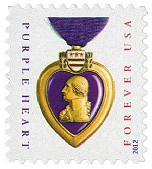 2012 First-Class Forever Stamp - Purple Heart