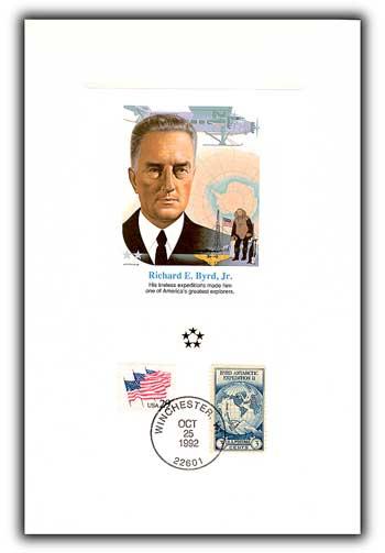 1991 AGMH Richard Byrd Proofcard Only