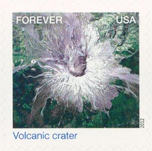 2012 First-Class Forever Stamp - Earthscapes: Volcanic Crater