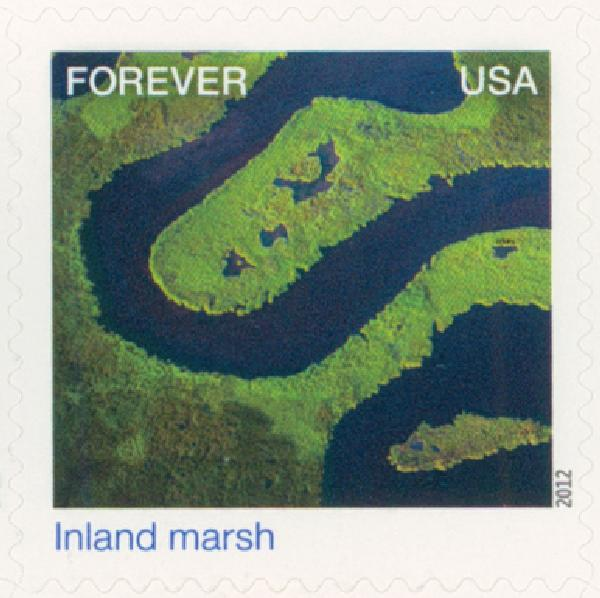 2012 First-Class Forever Stamp - Earthscapes: Inland Marsh