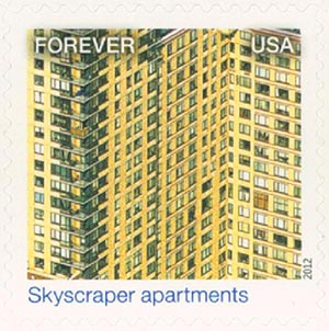 2012 First-Class Forever Stamp - Earthscapes: Skyscraper Apartments