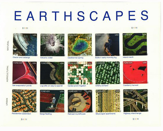 2012 First-Class Forever Stamp - Imperforate Earthscapes