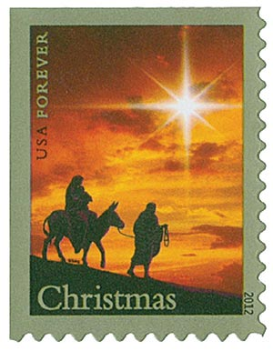 2012 First-Class Forever Stamp - Traditional Christmas: Holy Family