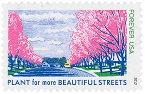 2012 First-Class Forever Stamp - Lady Bird Johnson Centennial: Plant for More Beautiful Streets