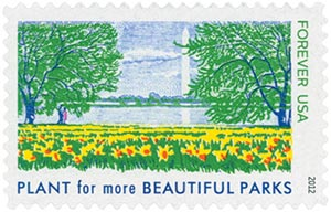 2012 First-Class Forever Stamp - Lady Bird Johnson Centennial: Plant for More Beautiful Parks