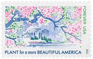 2012 First-Class Forever Stamp - Lady Bird Johnson Centennial: Plant for a More Beautiful America