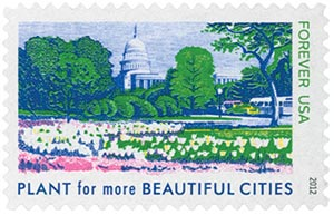 2012 First-Class Forever Stamp - Lady Bird Johnson Centennial: Plant for More Beautiful Cities