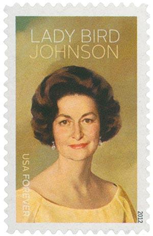 2012 First-Class Forever Stamp - Lady Bird Johnson Centennial: Lady Bird Johnson