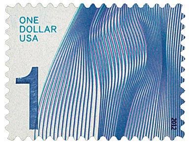 2012 $1 Waves of Color: Purple Blue
