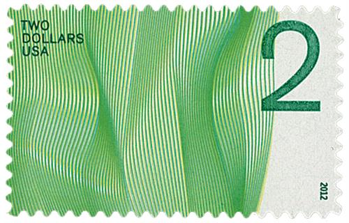 2012 $2 Waves of Color: Green