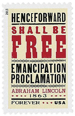 2013 First-Class Forever Stamp - The Emancipation Proclamation