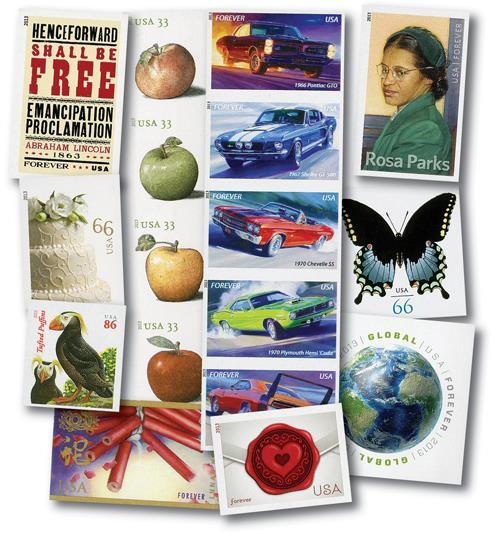 2013 U.S. Imperforate Stamps, 17v