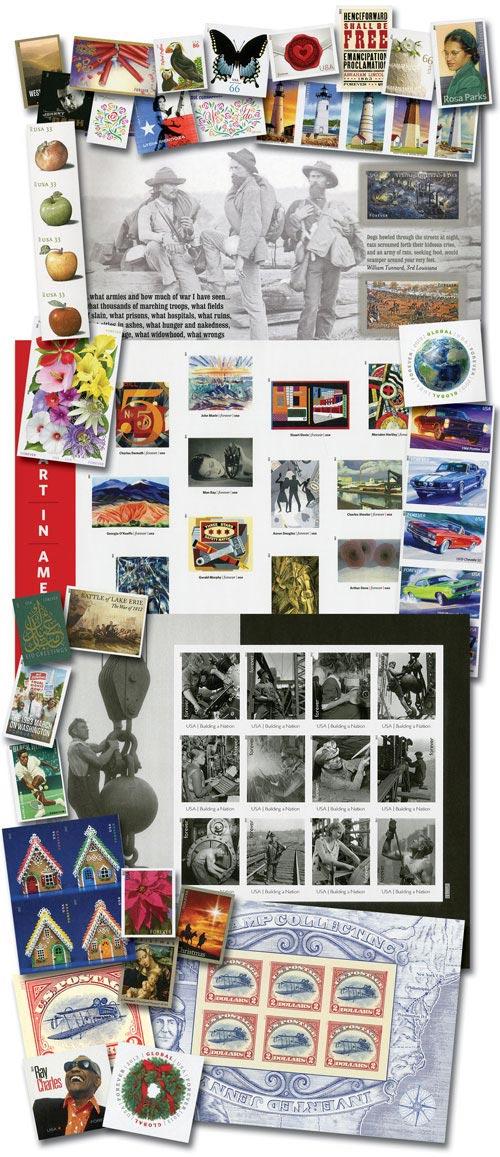 2013 U.S. Imperforate Stamps, 86v