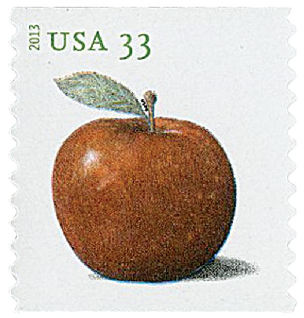 2013 33c Apples coil stamp-Baldwin