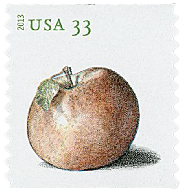 2013 33c Apples coil stamp- Northern Spy