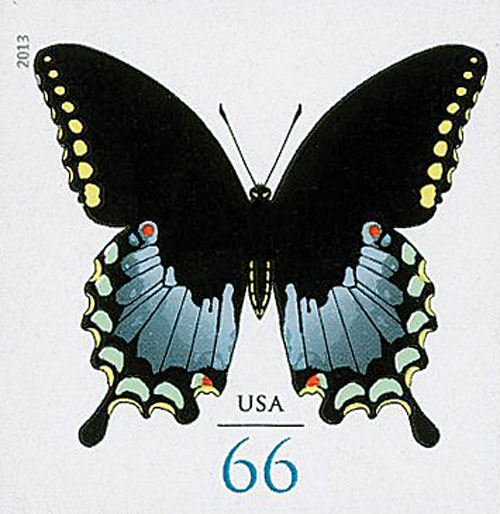 2013 66c Imperf Spicebush Swallowtail