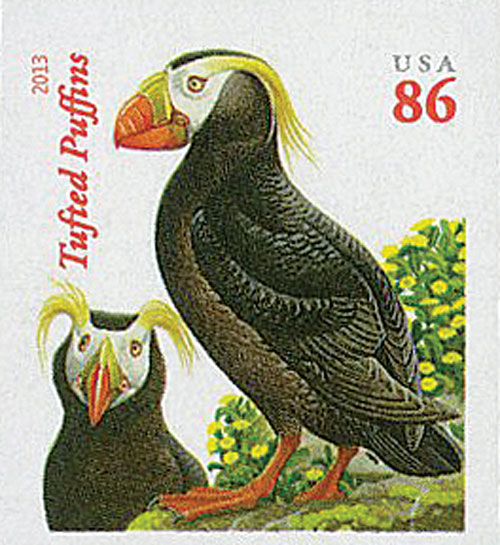 2013 86c Imperf Tufted Puffins
