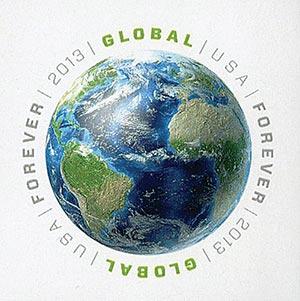 2013 $1.10 Imperf Earth Global Forever
