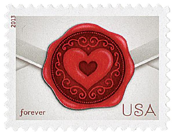 2013 First-Class Forever Stamp - Love Series: Sealed with Love