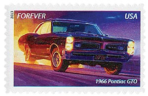 2013 First-Class Forever Stamp - Muscle Cars: 1966 Pontiac GTO