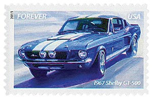 2013 First-Class Forever Stamp - Muscle Cars: 1967 Shelby GT-500