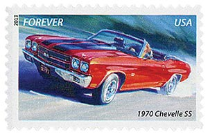 2013 First-Class Forever Stamp - Muscle Cars: 1970 Chevelle SS
