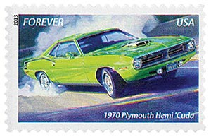 2013 First-Class Forever Stamp - Muscle Cars: 1970 Plymouth Hemi Cuda