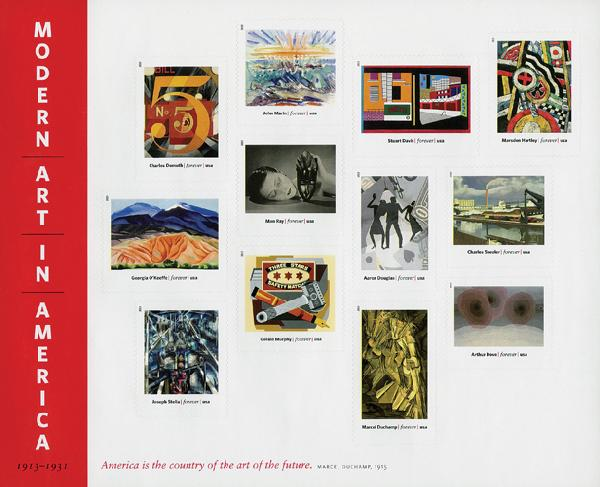 2013 First-Class Forever Stamp - Modern Art in America