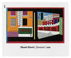 "2013 First-Class Forever Stamp - Modern Art in America: Stuart Davis ""House and Street"""