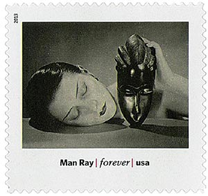 """2013 First-Class Forever Stamp - Modern Art in America: Man Rays """"Noire et Blanche"""""""