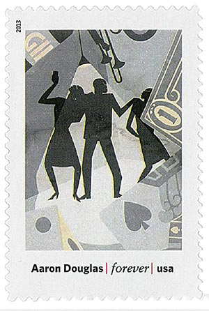 """2013 First-Class Forever Stamp - Modern Art in America: Aaron Douglas """"The Prodigal Son"""""""