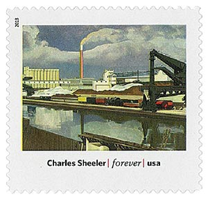 """2013 First-Class Forever Stamp - Modern Art in America: Charles Sheelers """"American Landscape"""""""