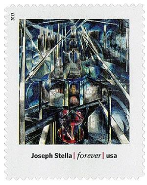 "2013 First-Class Forever Stamp - Modern Art in America: Joseph Stellas ""Brooklyn Bridge"""