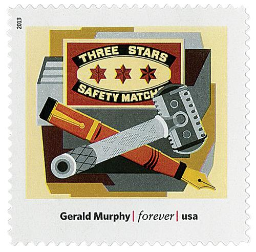 "2013 First-Class Forever Stamp - Modern Art in America: Gerald Murphys ""Razor"""