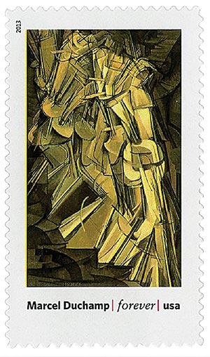 """2013 First-Class Forever Stamp - Modern Art in America: Marcel Duchamps """"Nude Descending a Staircase, No. 2"""""""