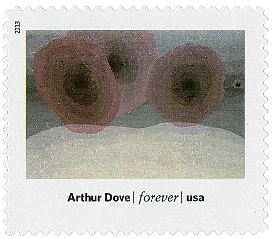"""2013 First-Class Forever Stamp - Modern Art in America: Arthur Doves """"Foghorns"""""""