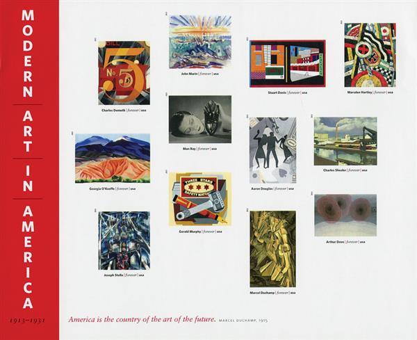 2013 First-Class Forever Stamp - Imperforate Modern Art in America