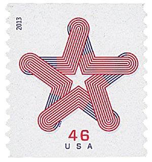2013 46c Patriotic Star