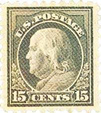 1916-17 15c Franklin, gray