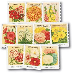 2013 First-Class Forever Stamp - Vintage Seed Packets