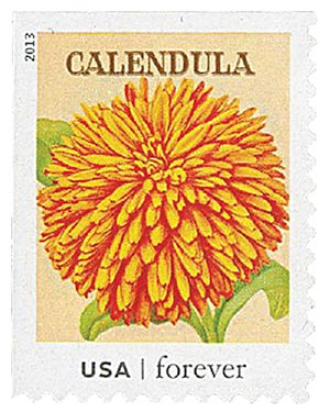 2013 First-Class Forever Stamp - Vintage Seed Packets: Calendula