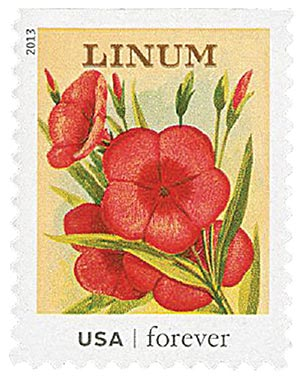 2013 First-Class Forever Stamp - Vintage Seed Packets: Linum