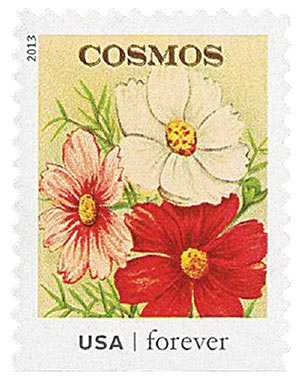 2013 First-Class Forever Stamp - Vintage Seed Packets: Cosmos