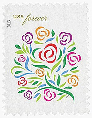 2013 First-Class Forever Stamp - Wedding Series: Where Dreams Blossom
